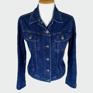 Sisleyy Distressed Denim Jacket
